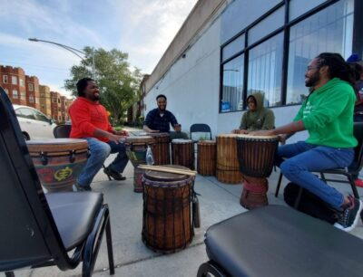 Through Drumming And Talking Current Events, Black Men Build Community At South Shore's Mental Health Circles