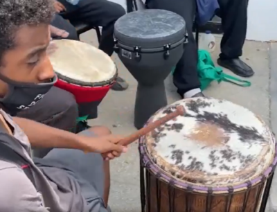 Black Men Gather Weekly in South Shore for Drum Circle, Yoga for their Mental Health